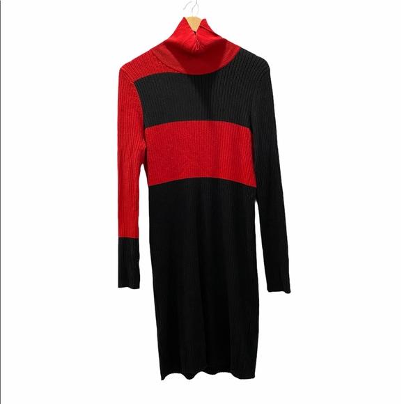 ASOS Black and Red Turtleneck Sweater Dress 14